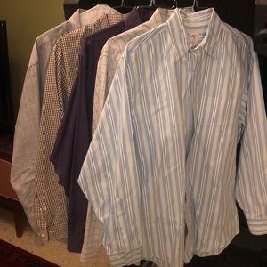 Lot of 5 Brooks Brothers Shirts size LARGE